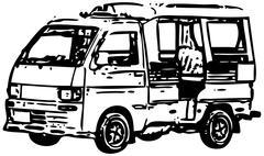 minibus - stock illustration