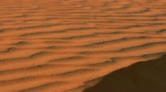 Wave pattern on sand dunes. Close up of sand dunes in sahara desert. Stock Footage