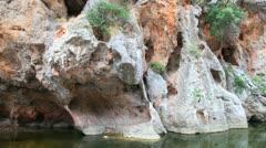 Mountains in Sa Calobra canyon, Mallorca Island, Spain Stock Footage