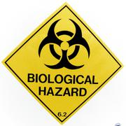 Warning - Biological Hazard Stock Photos