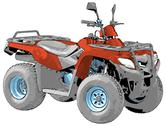 Quad bike Stock Illustration