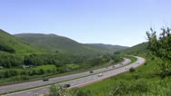 Stock Video Footage of Motorway on edge of Lake District pan left