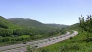 Stock Video Footage of Motorway on edge of Lake District pan left