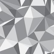 Diamond seamless pattern - abstract polygon texture Stock Illustration