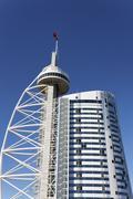 the vasco da gama tower - stock photo