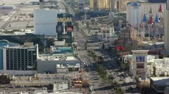 View of Las Vegas Strip North Side Stock Footage