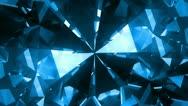 Big blue spinning gem Stock Footage