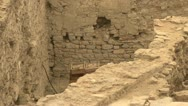 Stock Video Footage of Ephesus ruins, terrace homes, rough walls and dig