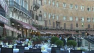 Stock Video Footage of Crowds in Piazza del Campo, Tuscany, Siena,