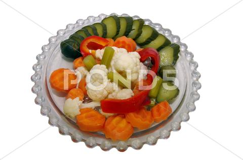 Stock photo of pickle salad