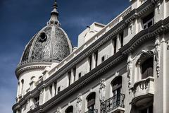 Stock Photo of white building in center of madrid, spain