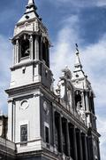 beautiful architecture- cathedral almudena, madrid, spain - stock photo