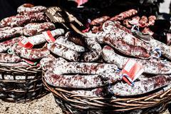 Beauty of italian slow food market Stock Photos