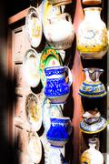 Classical turkish ceramics on the market Stock Photos