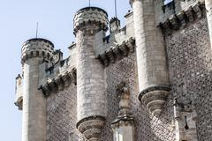 the famous alcazar of segovia, castilla y leon, spain - stock photo