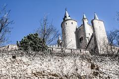 The famous alcazar of segovia, castilla y leon, spain Stock Photos
