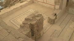 Stock Video Footage of History & culture, Ephesus ruins, terrace homes, murals floor pan