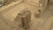 Stock Video Footage of Ephesus ruins, terrace homes, murals floor pan