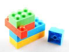 color building blocks - stock photo