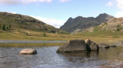 Blea Tarn and Langdale Pikes-1 Stock Footage