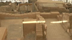Stock Video Footage of History & culture, Ephesus ruins, terrace homes, rooms aerial pan