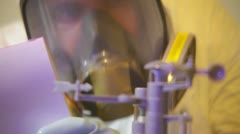 Science conducting experiment scientific Stock Footage