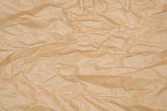 Crumpled Brown Paper. - stock photo