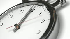 Clock Time Lapse with alpha channel Stock Footage