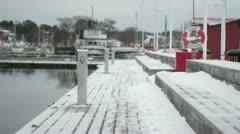 Winter Pier. Stock Footage
