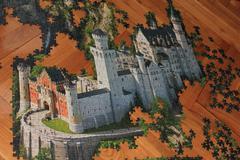 Castle - puzzle - stock photo