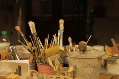 Artistic Brushes 1 Stock Photos