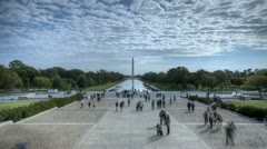 Timelapse Lincoln Memorial Stock Footage