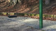 Children's swing swing alone Stock Footage
