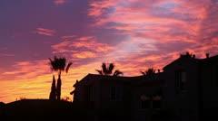 Beautiful sky at sunset Stock Footage