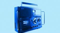 vintage radio spinning - stock footage