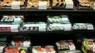 Stock Video Footage of Sushi in a supermarket
