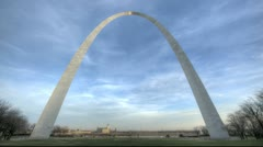 Stock Video Footage of St. Louis Arch Sunset