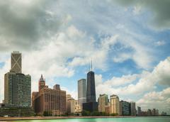 Downtown chicago, il on a sunny day Stock Photos