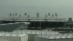 London 2012 Olympic Stadium before the games Stock Footage