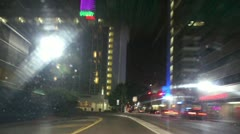 Brickell Drive at Night Stock Footage