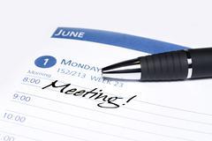 Calendar meeting reminder Stock Photos