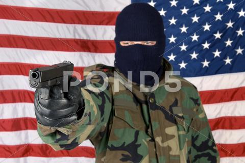 Stock photo of mercenary protection