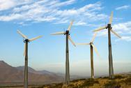Wind power mills Stock Photos
