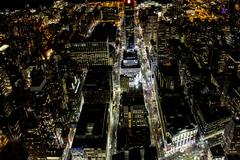 New York City Nighttime - stock photo
