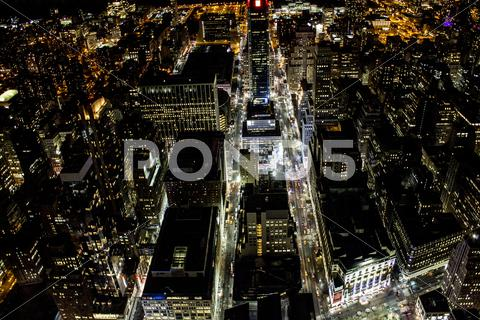 Stock photo of New York City Nighttime