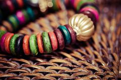 Close up view of colorful bracelet Stock Photos