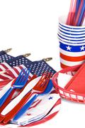 july fourth utensils - stock photo