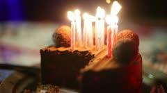 Birthday cake birth day Stock Footage