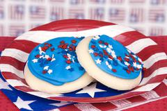 Fourth of july cookies Stock Photos