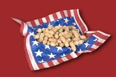 basket of july fourth peanuts - stock photo